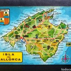 Postales: MAPA ISLA DE MALLORCA. CIRCULADA. EL ENVIO ESTA INCLUIDO.. Lote 289845683