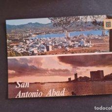 Postales: LOTE AB BALEARES POSTAL IBIZA ISLA BLANCA SAN ANTONIO ABAD VISTA GENERAL PUESTA DE SOL SUBIRATS. Lote 289847213