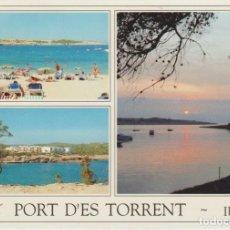 Postales: IBIZA. PORT D'ES TORRENT ... ESQUINA CON LIGERO DOBLEZ. Lote 289900038