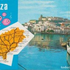 Postales: (4467) IBIZA. MAPA DE LA ISLA. Lote 289901483