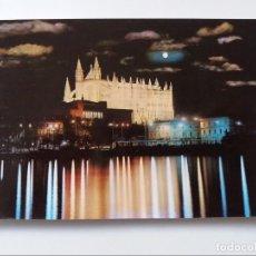 Postales: POSTAL - PALMA DE MALLORCA - VISTA NOCTURNA DE LA CATEDRAL. Lote 293876698