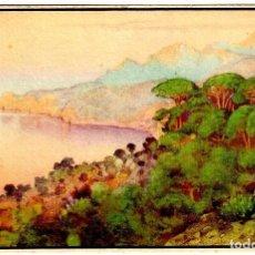 Postales: MALLORCA - ERWIN HUBERT - CALA DE DEYÁ CON EL PUIG MSYOR - J. BARGUÑÓ - 151X101 MM.. Lote 295739348