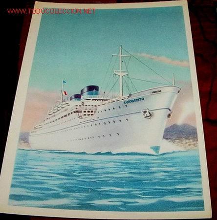 ANTIGUA POSTAL DE EL BARCO ITALIANO SURRIENTO (Postales - Postales Temáticas - Barcos)