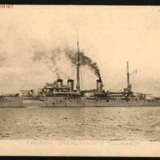 Postales: THE FRENCH DREADNOUGHT COURBET. Lote 25328758