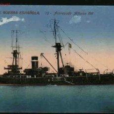Postales: MARINA DE GUERRA ESPAÑOLA. 13.- ACORAZADO ALFONSO XIII. Lote 22199728