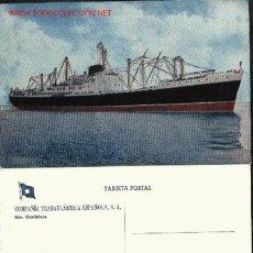 Postales: TRASATLANTICO GUADALUPE. COMPAÑÍA TRASATLÁNTICA ESPAÑOLA, S.A.. Lote 202621985