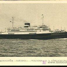 Postales: TARJETA POSTAL DE MOTONAVIOS SATURNIA-VULCANIA DE LA COSULICH-LINE. Lote 13974495