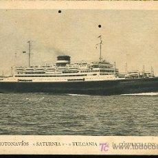 Postales: TARJETA POSTAL DE MOTONAVIOS SATURNIA-VULCANIA DE LA COSULICH-LINE. Lote 11334511