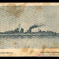 Postales: TARJETA POSTAL DE LA ARMADA ESPAÑOLA - CRUCERO MENDEZ NUÑEZ. Lote 3092869
