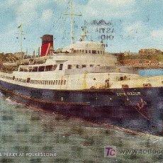 Postales: POSTAL DE BARCO.COTE D'AZUR - FERRY DEL CANAL DE LA MANCHA. Lote 3253623