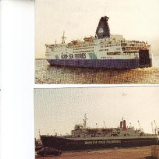 Postales: LOTE DE 3 POSTALES -NORTH SEA FERRIES- M.V. NORSUN, M.V. NORWAVE Y M.V. NORLAND. Lote 18916983