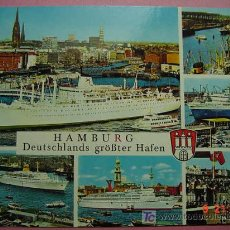 Postales: 531 PUERTO PORT HARBOUR HAFEN HAMBURG ALEMANIA GERMANY C&C. Lote 3358511