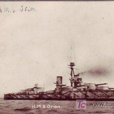 Postales: H.M.S. ORION-POSTAL DE BARCO. Lote 21091575