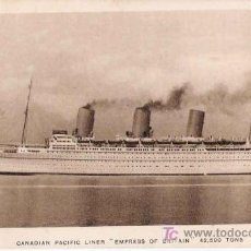 Postales: VAPOR CANADIAN PACIFIC LINER EMPRESS OF BRITAIN. Lote 24187367