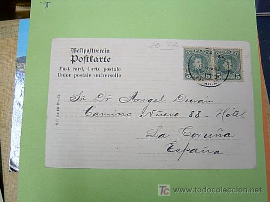 Postales: POSTAL BARCO - dela NORDDEUTSCHER LLOYD BREMEN , sin nombre visible circulada 1902 - Foto 2 - 3589097