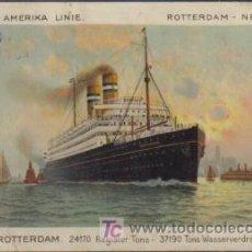 Postales: POSTAL HOLLAND - AMERIKA LINIE ROTTERDAM - NEW YORK - D.D. ROTTERDAM. Lote 11789494