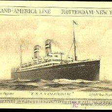 Postales: TARJETA POSTAL DE BARCO. HOLAND- AMERICA LINE. ROTTERDAM- NEW YORK.. Lote 20054018