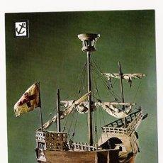 Postales: POSTALES NUEVAS DE BARCOS DE LA COLECCIÓN HISTORIA DEL MAR - SERIE 2ª, Nº 19, ESCUDO DE ORO. Lote 4303767
