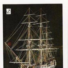 Postales: POSTALES NUEVAS DE BARCOS DE LA COLECCIÓN HISTORIA DEL MAR - SERIE 1ª, Nº 6, ESCUDO DE ORO. Lote 4303975