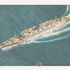 Postales: POSTAL DE BARCOS GRIMALDI - SIOSA LINES - T-N VENEZUELA. ILUSTRADAS POR ANDEL. Lote 4306985