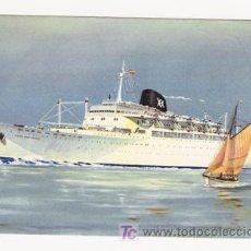 Postales: POSTAL DE BARCOS DE 1959 -ILUSTRADA POR TONELLI. Lote 4307184