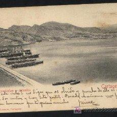 Postales: POSTAL DEL ROMPEOLAS CARTAGENA Y ESCUADRA. CIRCULADA.. Lote 17321842