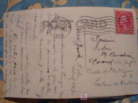 Postales: FOTO POSTAL CIRCULADA 1930 BARCO TRANSATLANTICO NORDDEUTSCHER LLOYD DAMPFER BREMEN 1 - Foto 2 - 10352852