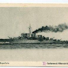 Postales: POSTAL DE LA ARMADA ESPAÑOLA. CAÑONERO HERNAN CORTES. EDICIONES FRAGATAS-CADIZ H. Y M.. Lote 4469332