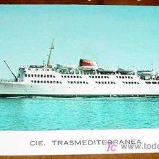 Postales: ANTIGUA FOTO POSTAL DEL CORREO ALGECIRAS TANGER . COMPAÑIA TRASMEDITERRANEA - SIN CIRCULAR. Lote 9777030