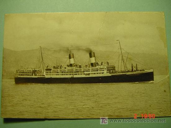 7654 BARCO SHIP ITALIA ITALY - MAS DE ESTE TEMA EN MI TIENDA COSAS&CURIOSAS (Postales - Postales Temáticas - Barcos)