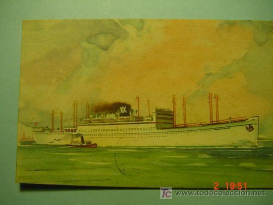 7657 BARCO SHIP ESPAÑA SPAIN- MAS DE ESTE TEMA EN MI TIENDA COSAS&CURIOSAS (Postales - Postales Temáticas - Barcos)