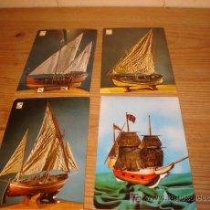 Postales: 4 POSTALES DE MAQUETAS DE BARCOS . Lote 5377260