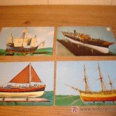 Postales: 4 POSTALES DE MAQUETAS DE BARCOS . Lote 5377325