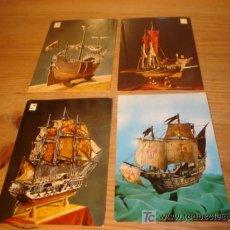Postales: 4 POSTALES DE MAQUETAS DE BARCOS . Lote 5377331