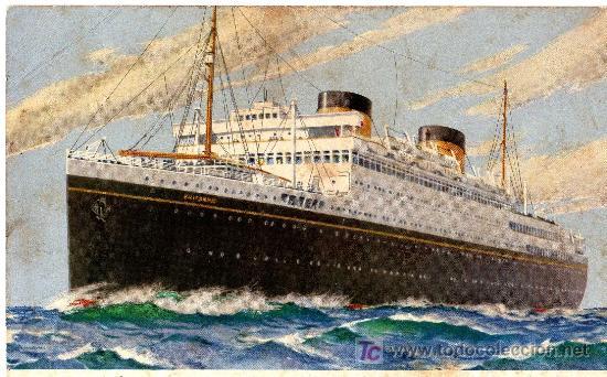 POSTAL DEL BRITANIC DE LA WHITE STAR LINE (Postales - Postales Temáticas - Barcos)