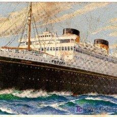 Postales: POSTAL DEL BRITANIC DE LA WHITE STAR LINE. Lote 27385624