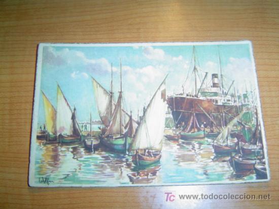 POSTAL BARCOS CIRCULADA (Postales - Postales Temáticas - Barcos)