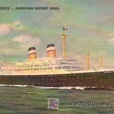 Postales: POSTAL BARCO S.S. INDEPENDENCE AMERICAN EXPORT LINES . Lote 6504192