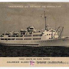 Postales: POSTAL BARCO. CORREO ALGECIRAS TANGER ALGECIRAS. TRAVESIA DEL ESTRECHO GIBRALTAR. FERRY. SIN CIRC. Lote 6750207