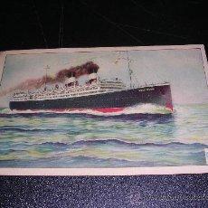 Postales: VAPOR GIULIO CESARE, NAVIGAZIONE GENERALE ITALIANA. Lote 8366317