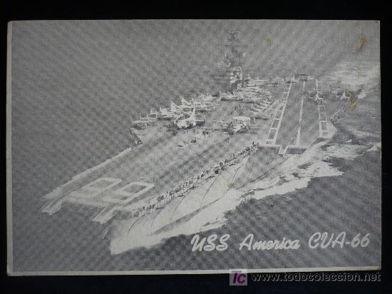 USS. AMERICA GUA 66 CIRCULADA (Postales - Postales Temáticas - Barcos)