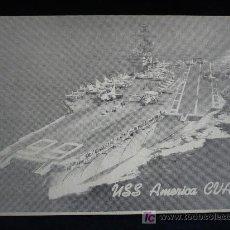 Postales: USS. AMERICA GUA 66 CIRCULADA. Lote 8435366