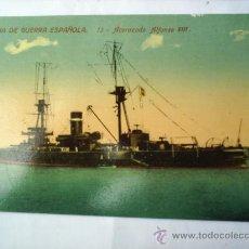 Postales: MARINA DEGUERRA ESPAÑOLA -N.13 ACORAZADO ALFONSO 13-SIN CIRCULAR. Lote 8982403