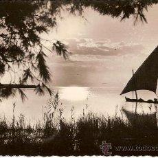 Postales: ANTIGUA POSTAL VALENCIA ALBUFERA BONITA PUESTA DE SOL CIRCULADA 1955. Lote 15116217