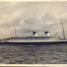 Postales: BARCO CONTE DI SAVOIA. ITALIA, SOCIETÁ DI NAVIGAZIONE. POSTAL C. 1930. BARCOS. Lote 24966277