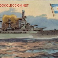 Postales: TARJETA POSTAL DE MARINA DE GUERRA - ARGENTINA - ACORAZADO MORENO. Lote 3704226