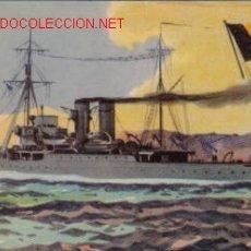 Postales: TARJETA POSTAL DE MARINA DE GUERRA - BELGICA - SLOOP ZINNIA. Lote 3704228