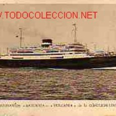 Postales: TARJETA POSTAL DEL BARCO SATURNIA. Lote 17977951