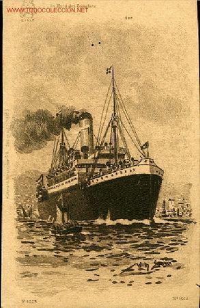 TARJETA POSTAL-AN BORD DES DAMPFERS. H.A.P.A.G. LINIE (Postales - Postales Temáticas - Barcos)