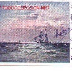 Postales: 7-BARCO74. POSTAL VELERO Y VAPOR AÑO 1903. Lote 2363851